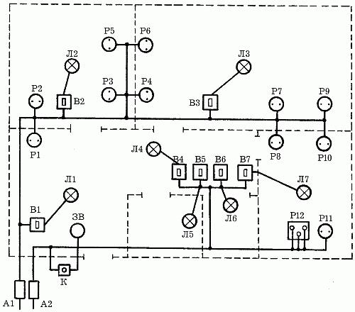 Электрические принципиальные схемы жилых зданий5