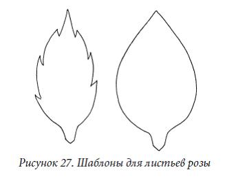 Листья своими руками чертеж