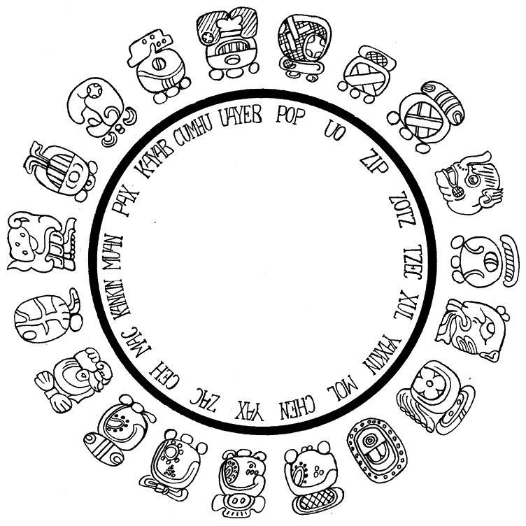 Символ календарь майя