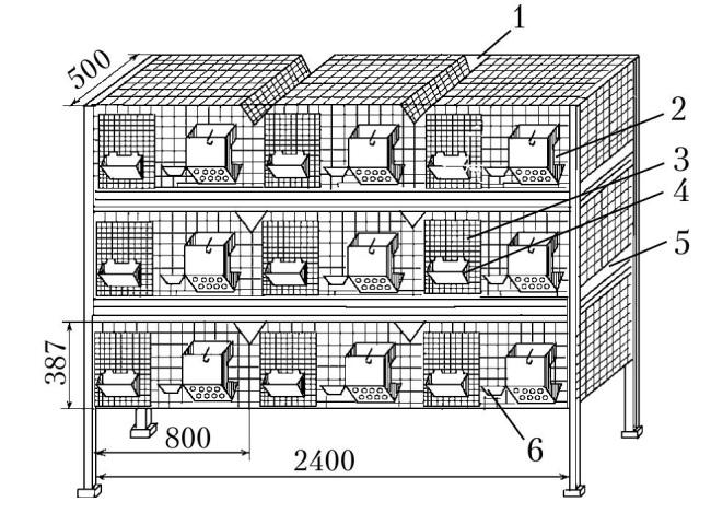 Клетка из сетки для кроликов чертежи