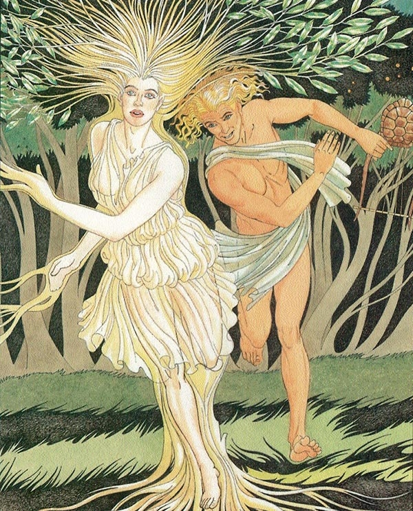 an analysis of the greek myth about tainted love apollo and daphne Greek and roman mythology pyramus and thisbe they could not forbid that love should glow with equal apollo and daphne: apollo and hyacinthus: ariadne.